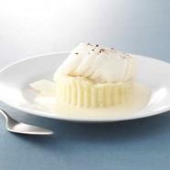 Dos de skrei de Norvège, purée de pommes de terre à la vanille