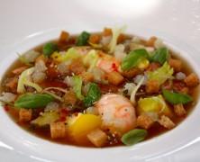 Le Plat de la Semaine – Bouillabaisse froide, pommes de terre, fenouil au basilic.