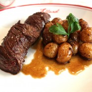 Semainier Allard  Samedi : Onglet de bœuf, pommes de terre grenaille, sauce béarnaise