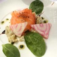 Un Plat pour l'été – Artichauts poivrades frais, saumon fumé, œuf poché au Grand Bistro de Breteuil