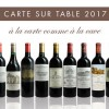 Carte sur Table 2017