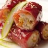Crêpes de riz rouge aux crevettes