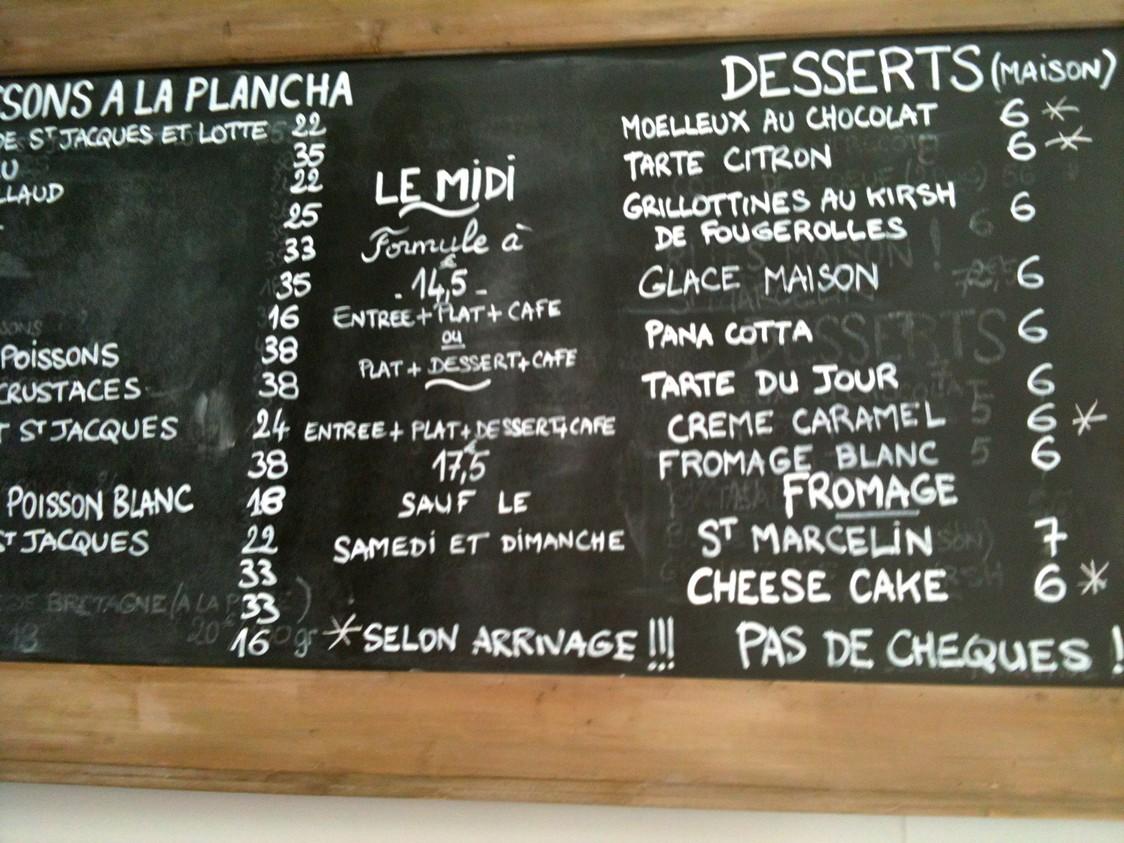 Ardoise Desserts © Blandine Vié