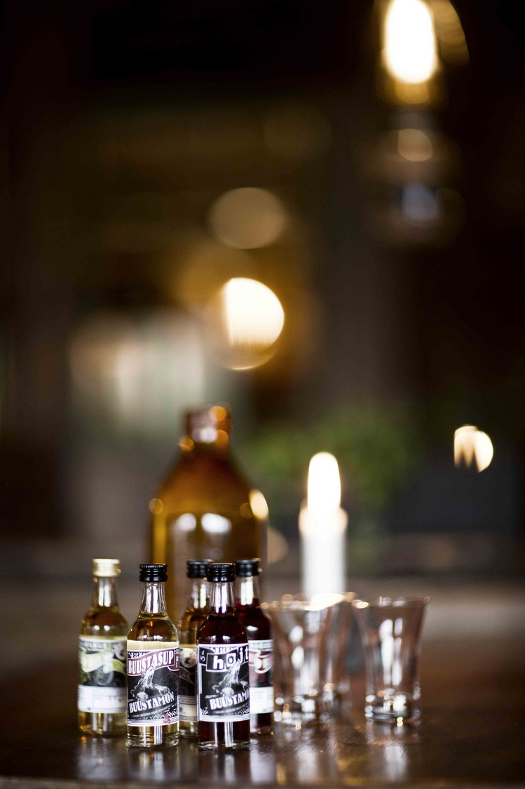 whiskies and  schnaps