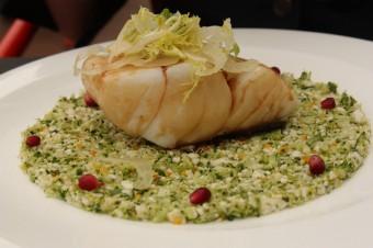 L'Opéra Restaurant - Cabillaud , semoule de légumes croquants