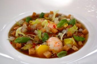 Restaurant Laurent - Bouillabaisse froide, pommes de terre et fenouil au basilic