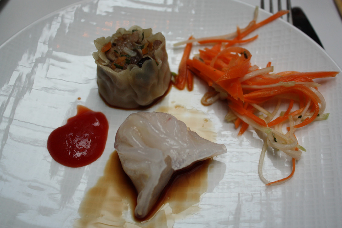 Restaurant Manger - Dim Sum, carottes, basilic thaï