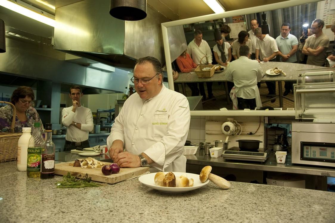 Manoir des Lys - Franck Quinton en cuisine