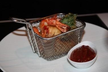 Restaurant Lazare - Friture de gambas, ketchup maison épicé