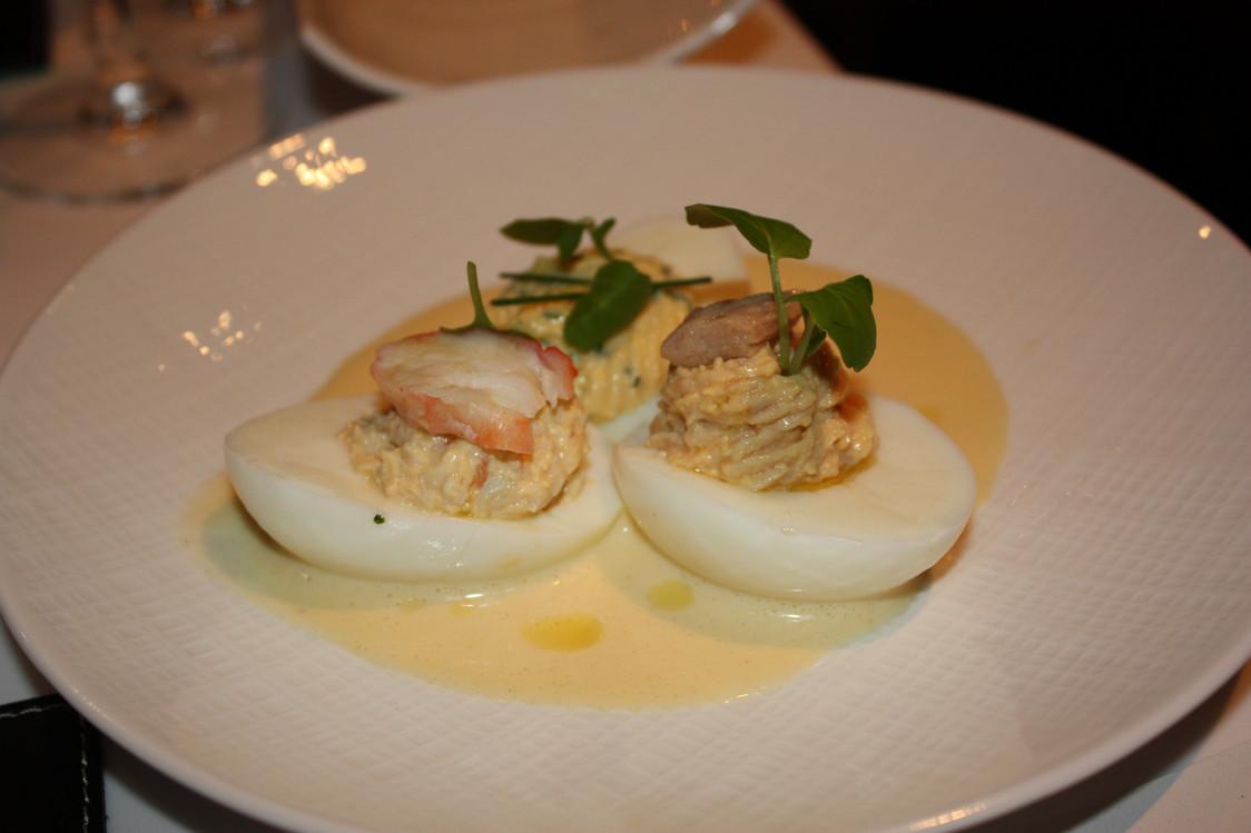 Restaurant Lazare - Oeufs de poule mimosa, au thon , au crabe
