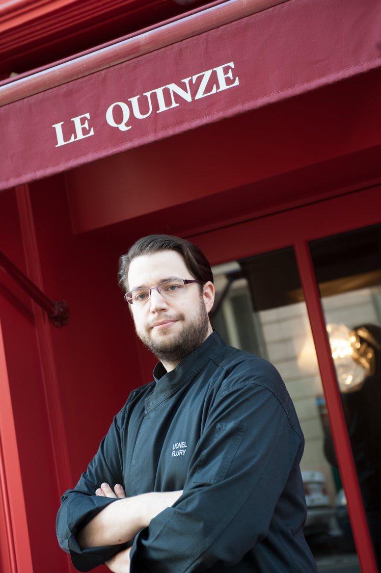 Portrait de Lionel Flury, Chef du restaurant Le Quinze a Paris