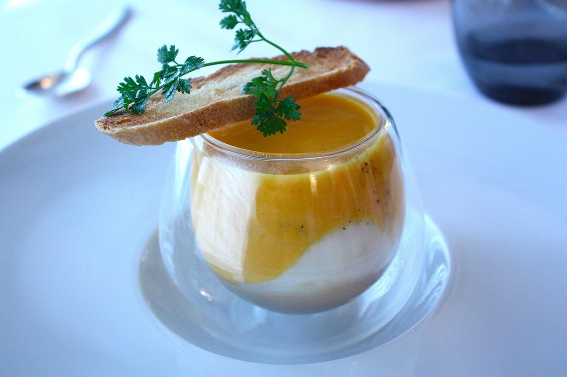 Potiron, œuf coque