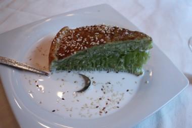 Brioche aux feuilles de Pandamus, lait de coco