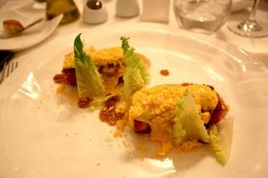 Porc, moutarde, aioli, œuf mimosa