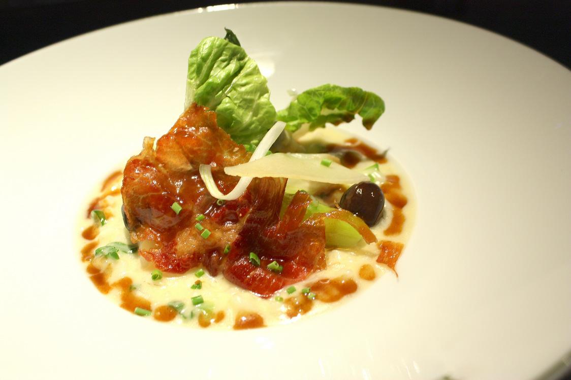 Les 110 de Taillevent - Risotto crémeux, asperges, copeau de jambon