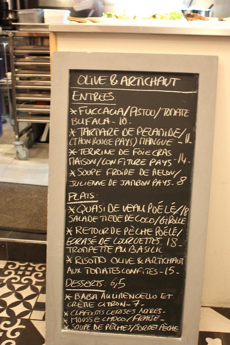 Olive & Artichaut - Tableau