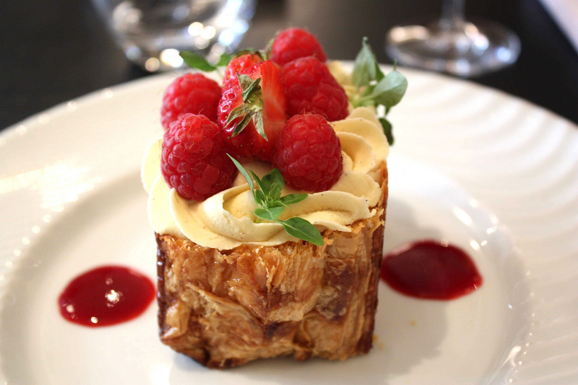 Philippe Excoffier - Millefeuille aux framboises © P.Faus