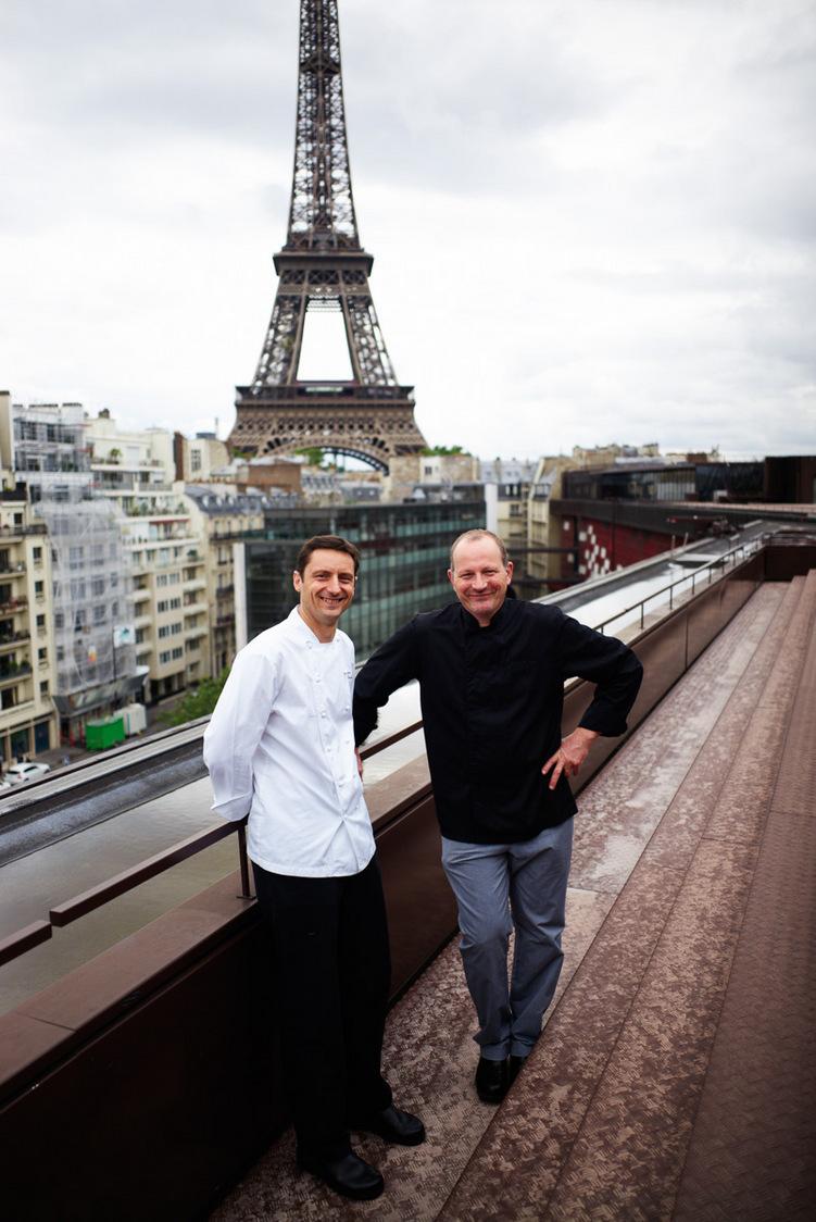 Frédéric Claudel, chef, et Pascal Chanceau, chef pâtissier