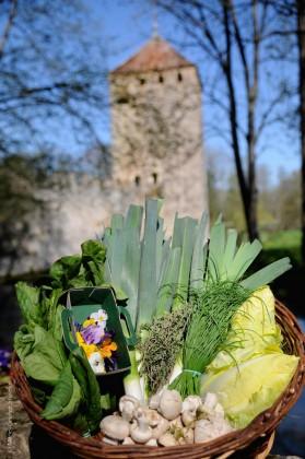 Légumes devant donjon IV