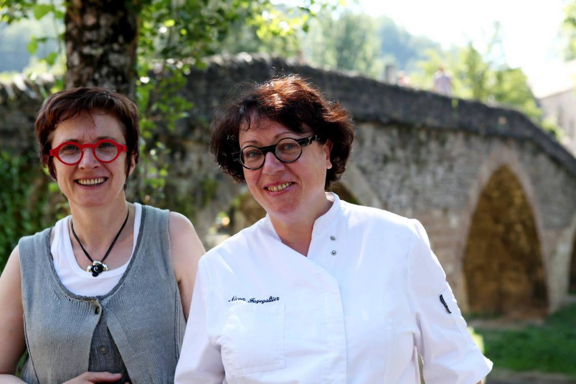 Michèle (à g.) et Nicole Fagegaltier