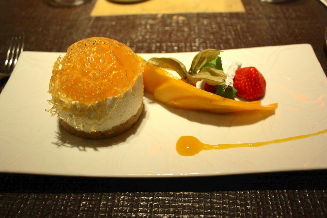 Cheese cake, mangue et citron vert © P.Faus - copie