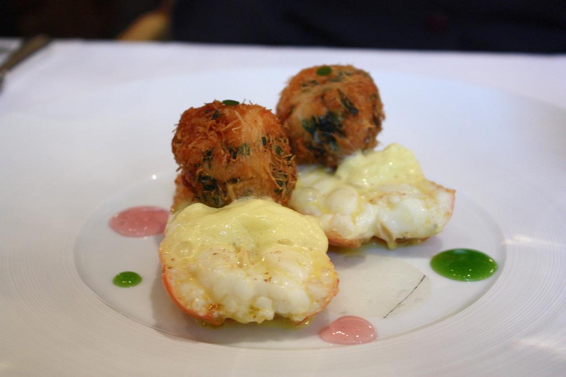 Grosses langoustines bretonnes en deux cuissons, émulsion d'agrumes