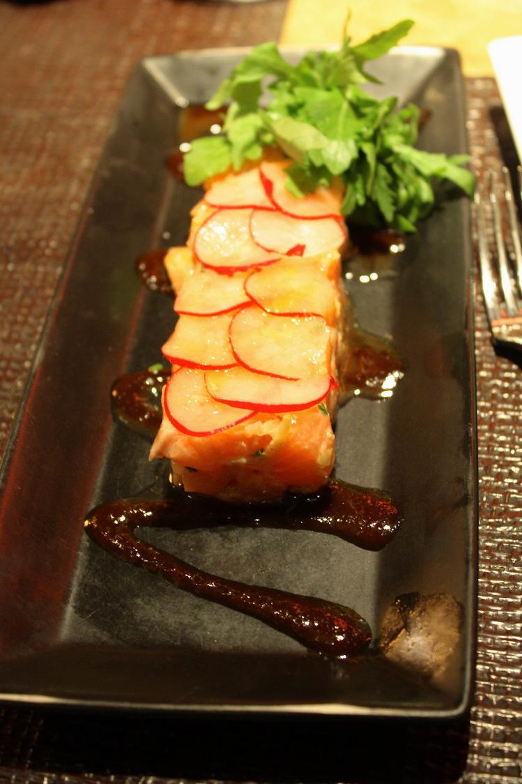 Tartare de saumon bio et citron vert  © P.Faus  - copie