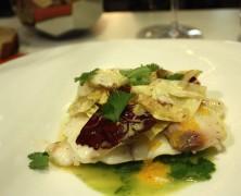SAMEDI – Lichette de bar sauvage, soupe clémentine, orge perlée au curry vert chez Gaya
