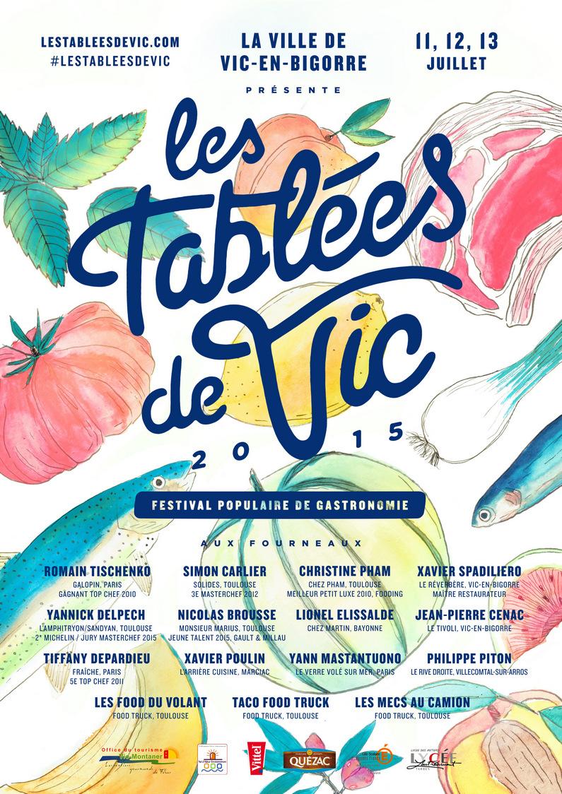 Affiche Les Tablées de Vic ©AVE Paris_Florent Manelli