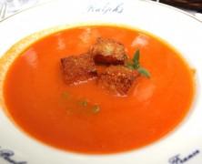 Un Plat Pour l'Eté – Soupe froide de Tomates au restaurant Ralph's