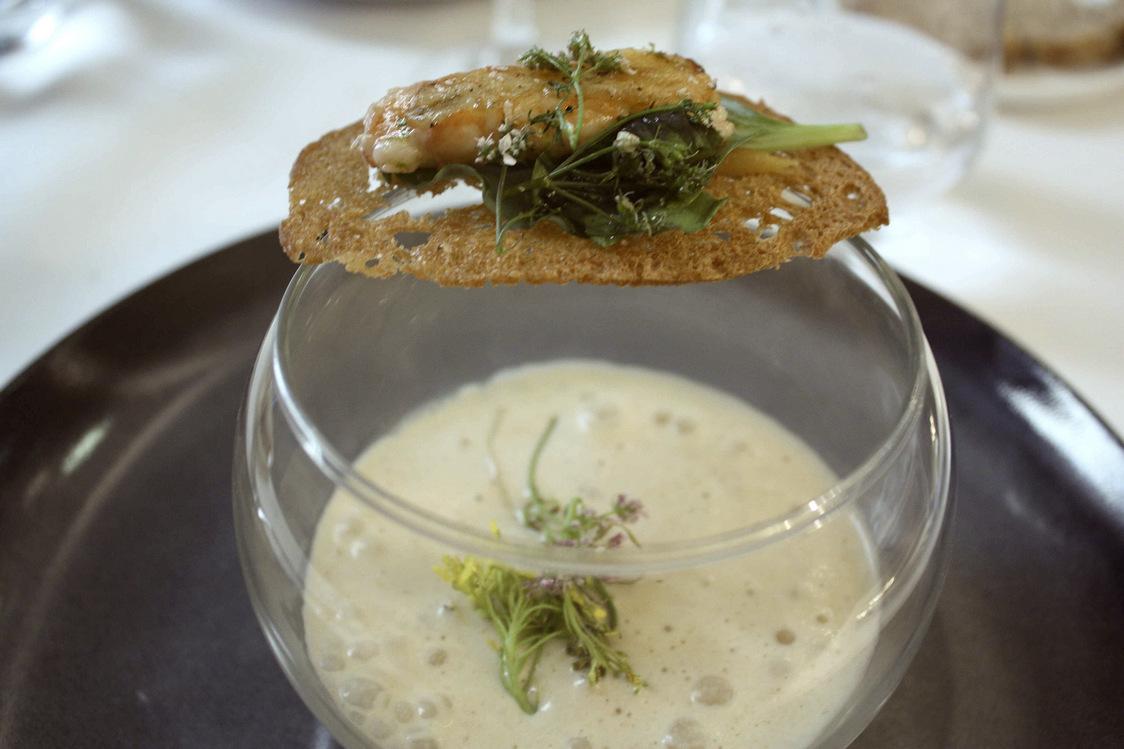 Foie gras, langoustine rôtie © P.Faus