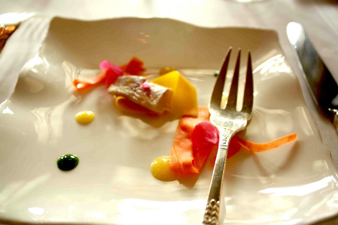 Barbue marinée gingembre, patae douce… © P.Faus