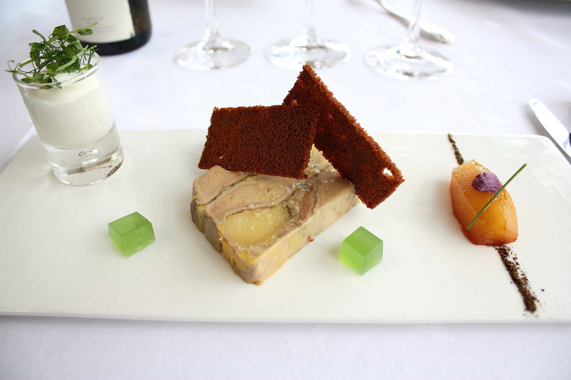 Foie gras de canard, figues rôties… © P.Faus