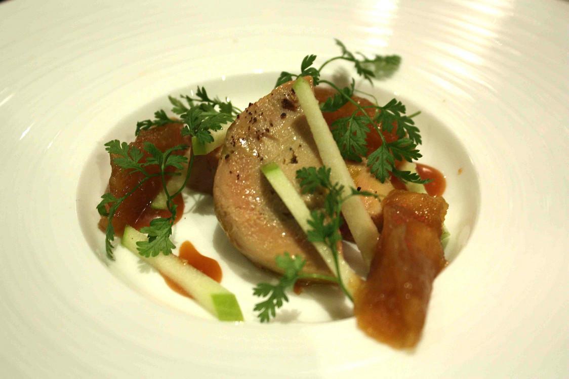 Foie gras, chutney de pommes Cox  © P.Faus - copie