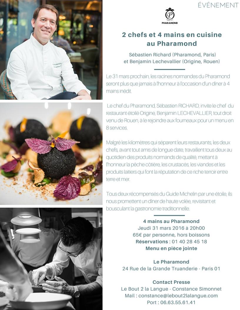2 Chefs Et 4 Mains En Cuisine Au Pharamond Gourmets Co