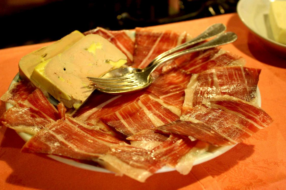 Fois gras et & pata negra  © P.Faus