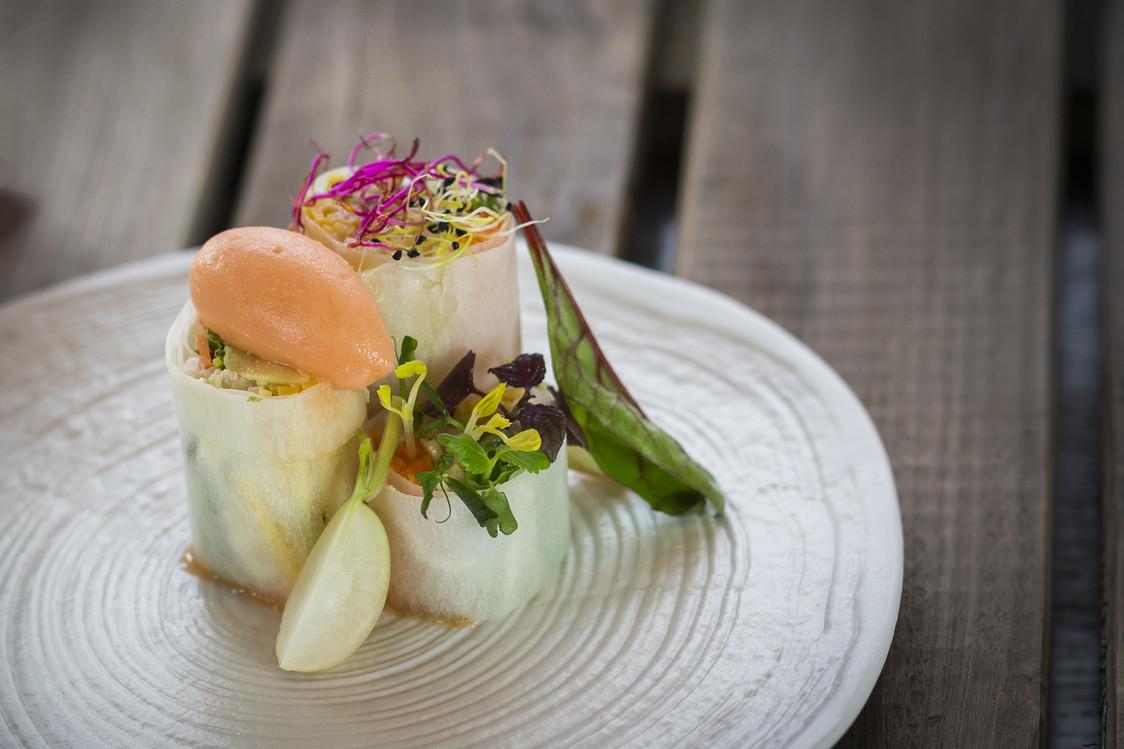 Maki de légumes, crabes