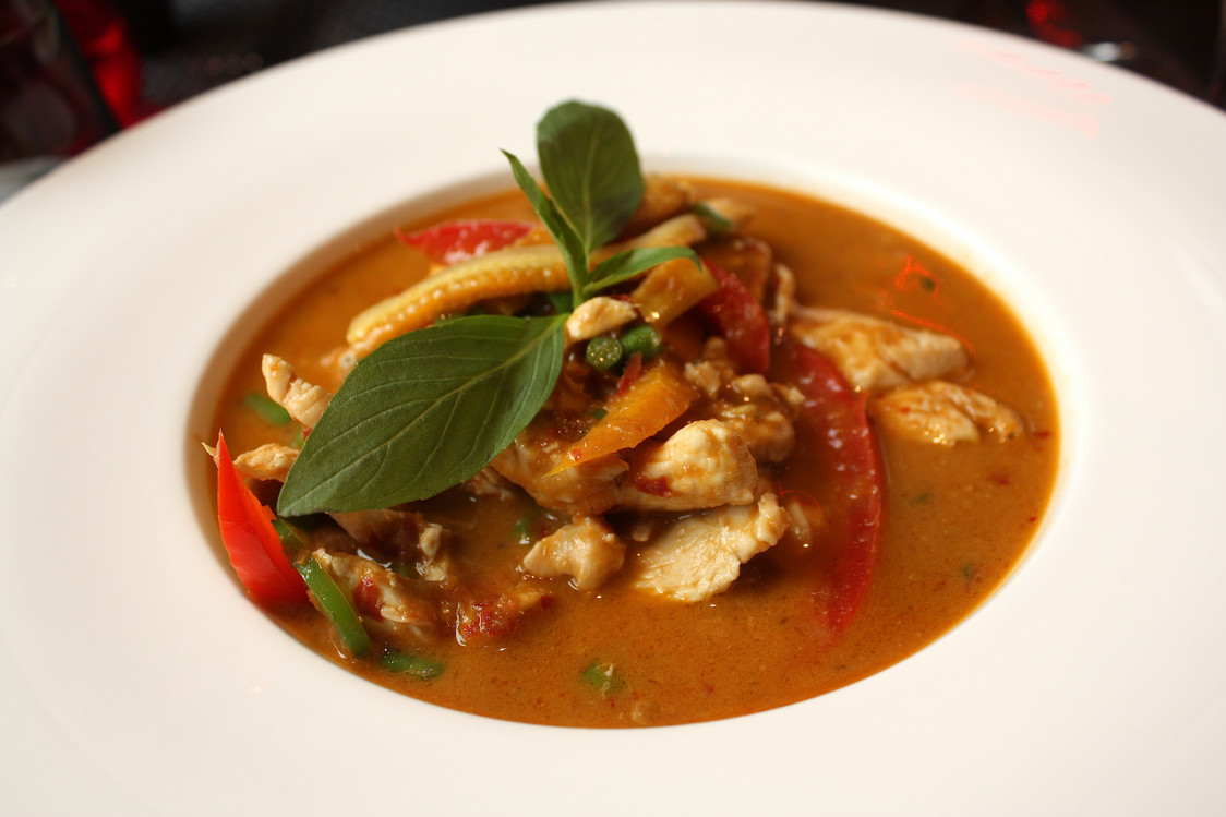 Poulet au curry rouge © P.Faus