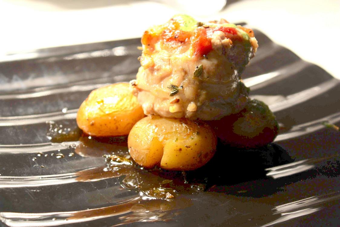 Poulet aux zestes de citron, champignons, pommes de terre © P.Faus   - copie