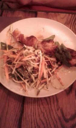 poulette-cours-darmoise-salade-papaye-gourmetsco