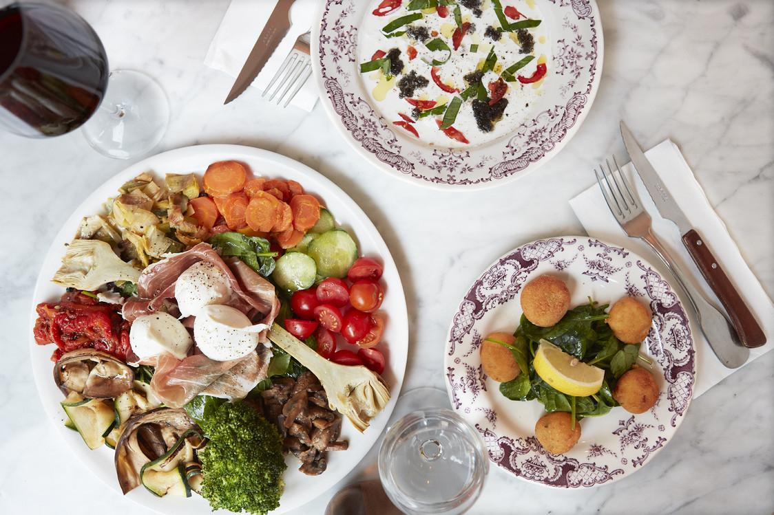 Antipasti verdure et Beignets de mozarrella