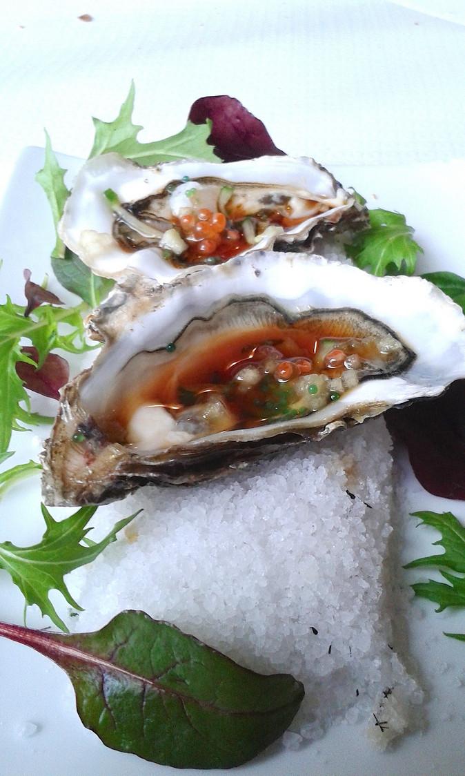 Huîtres en fraicheur du Japon © Gourmets&Co