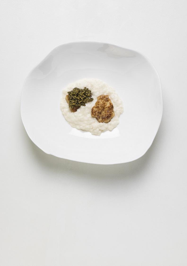 """Le 1947-YA-Brouillade de noix de Coquille Saint-Jacques """"lulu"""", Pain retrouvé au Caviar osciètre"""