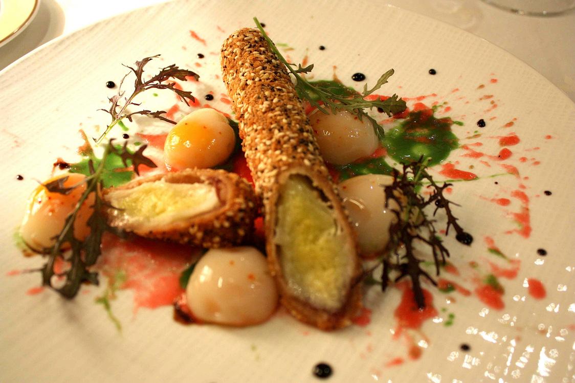 L'œuf de caille et le poireau © Gourmets&Co