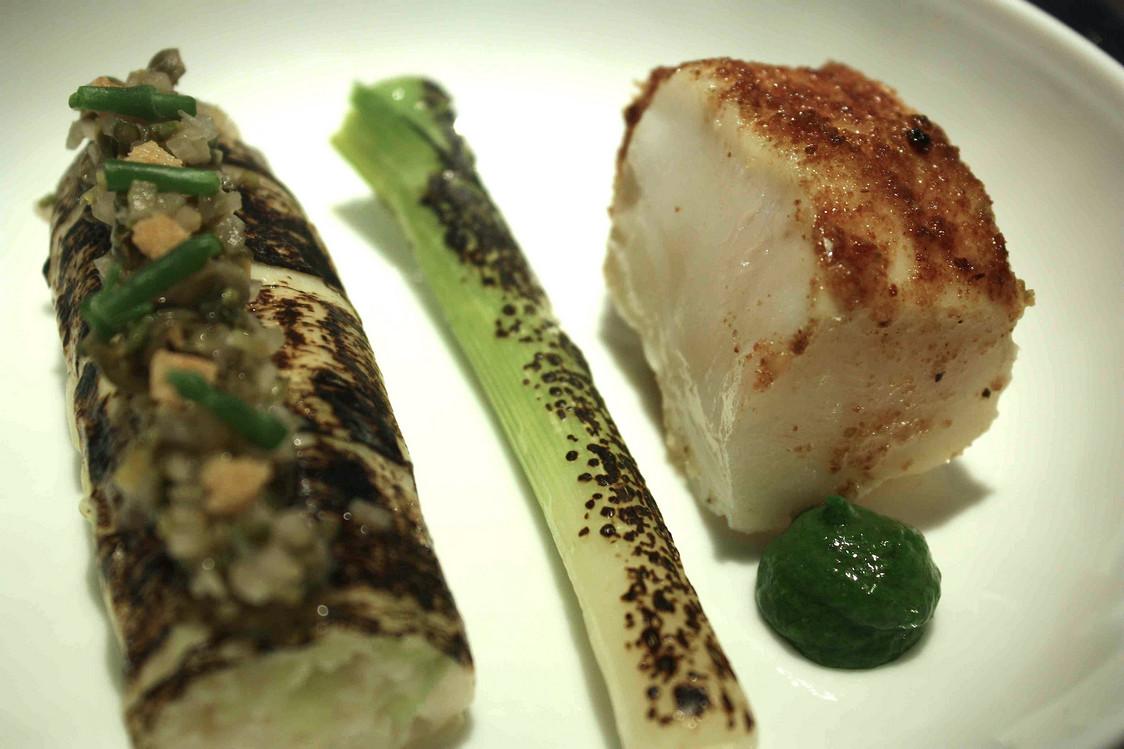 Lotte, poireau, vadouvan © Gourmets&Co . - copie