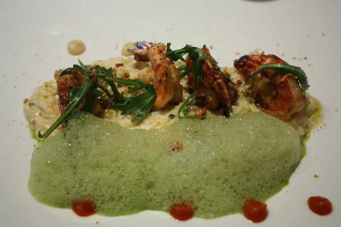 Risotto d'orzo, épinards, gambas © Gourmets&Co