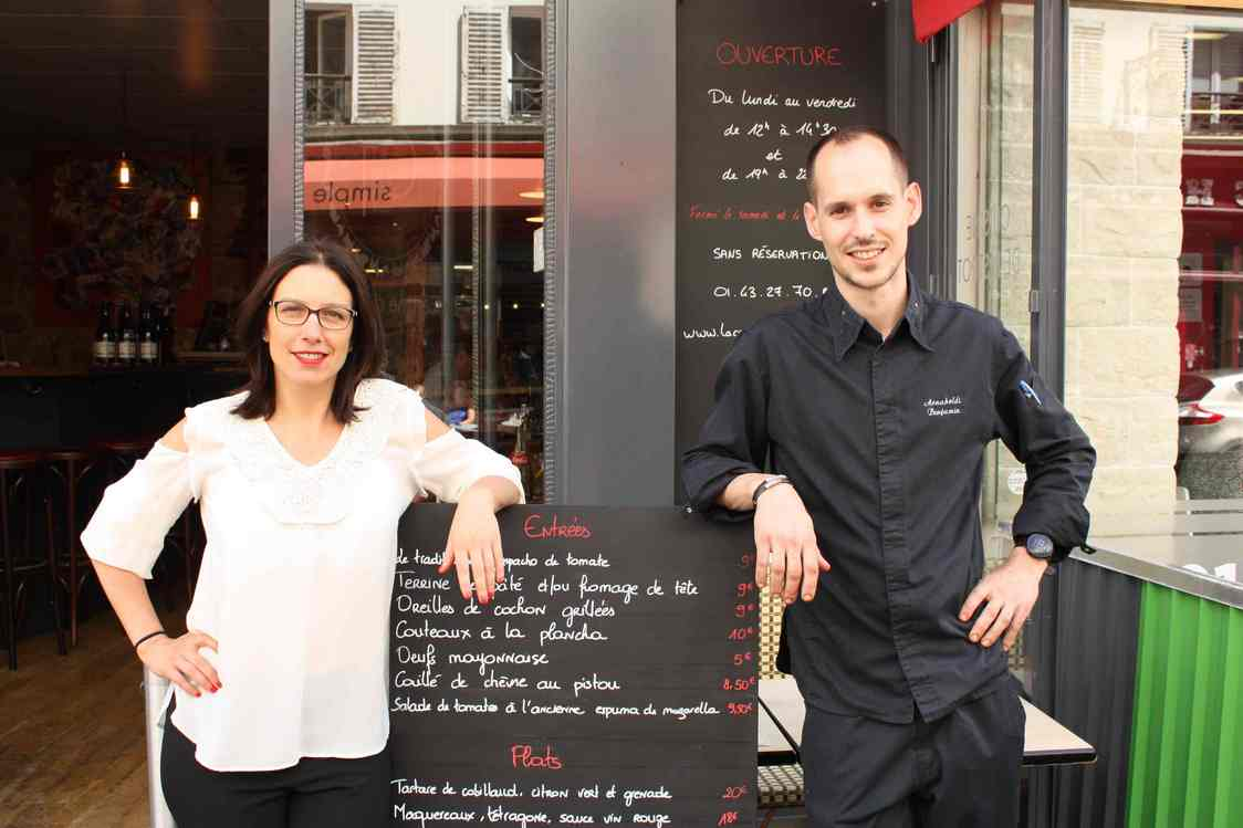 Le chef Benjamin Arnaboldi & Nathalie Camberlin © Gourmets&Co
