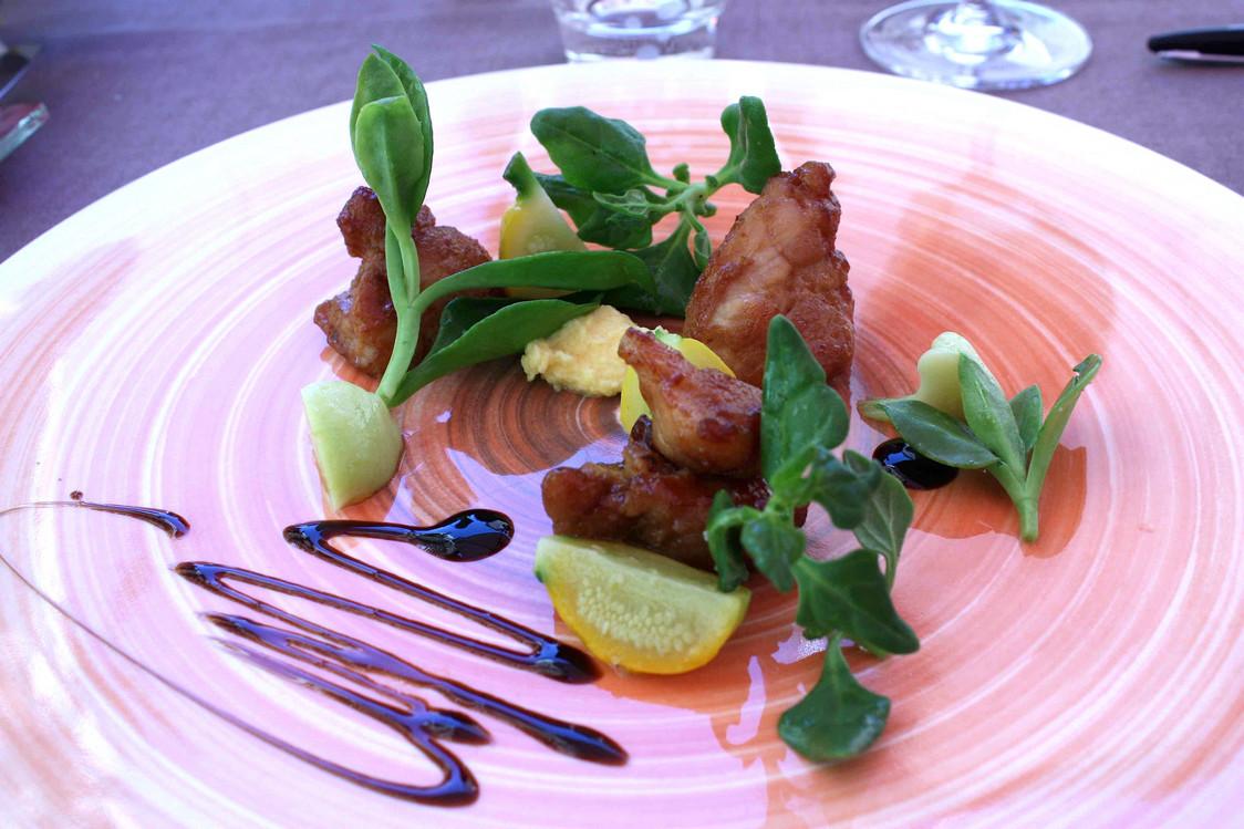 Ris de veau en salade, patissons © Gourmets & co