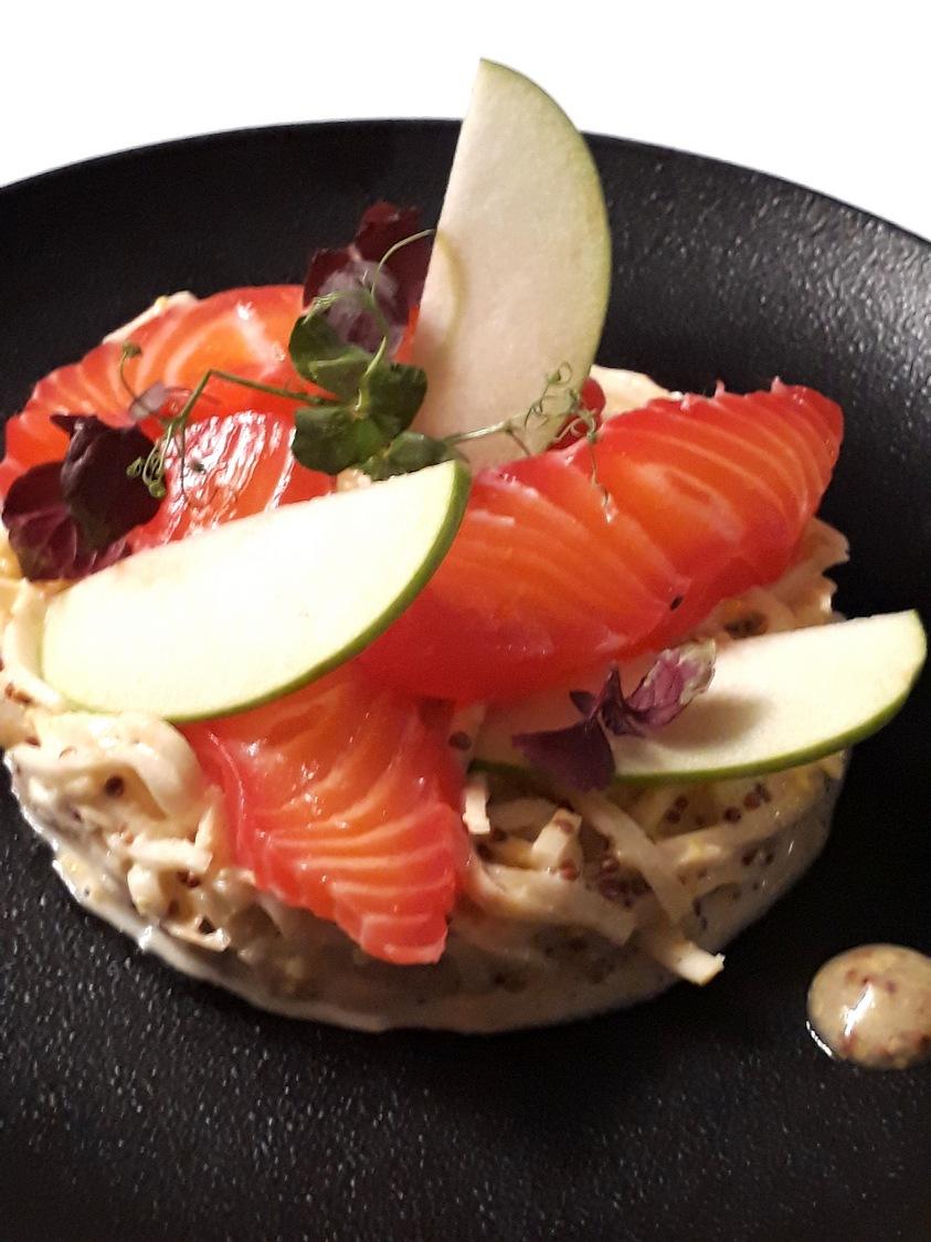 Cèleri rémoulade, saumon mariné © Gourmets&Co