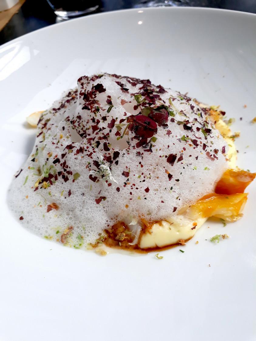 Effeuillé de haddock, émulsion polenta © Gourmets&Co